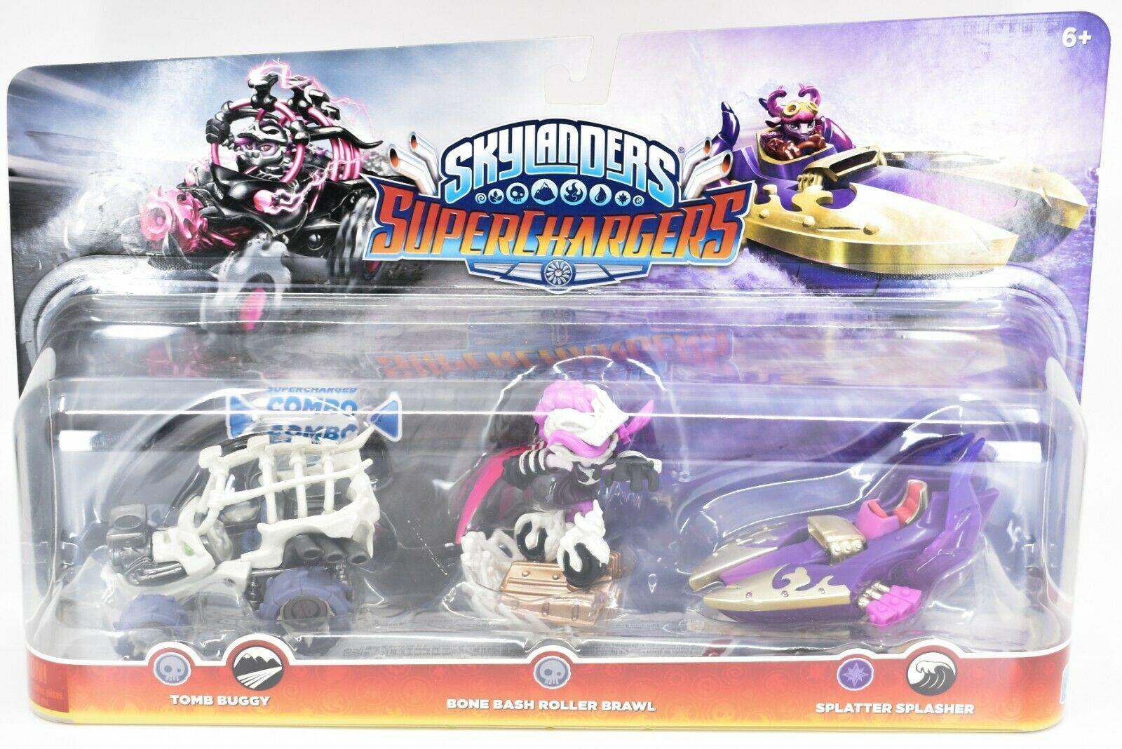 Skylanders Superchargers Tomb Buggy Bone Bash Roller Brawl Splatter Splasher