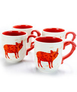 Urban Market Life on the Farm 4 Piece 20.25 Ounce Ceramic Pig Cup Set - $39.39