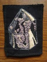 smoky quartz crystal sew on patch - $18.00