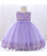 2018 infant Christening dress 1 year Birthday Party Wedding baptism Kids... - $23.70