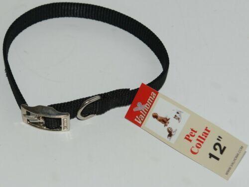 Valhoma 720 12 BK Dog Collar Black Single Layer Nylon 12 inches Package 1