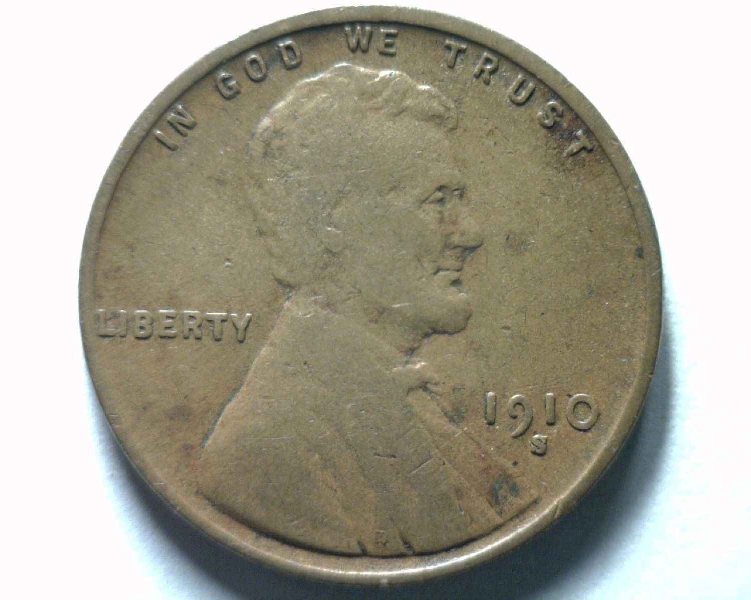 1910-S LINCOLN CENT VERY FINE / EXTRA FINE VF/XF VERY FINE /EXTREMELY FINE VF/EF - $39.00