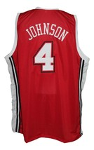 Larry Johnson #4 College Basketball Jersey New Sewn Red Any Size image 4