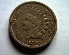 1859 Indian Cent Penny Very FINE/EXTRA Fine VF/XF Very FINE/EXTREMELY Fine VF/EF - $80.00