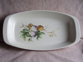 Villeroy & Boch Serving Dish Walnut & Onion Decal - $7.95