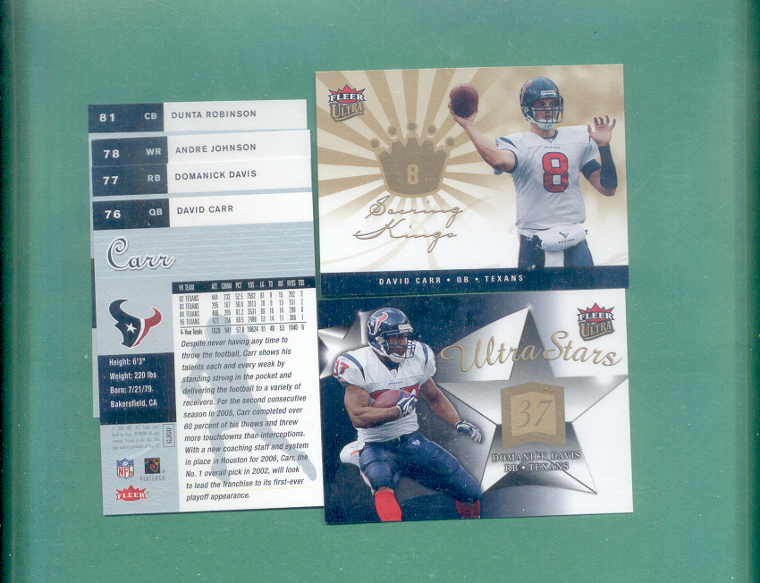 2006 Fleer Ultra Houston Texans Football Team Set