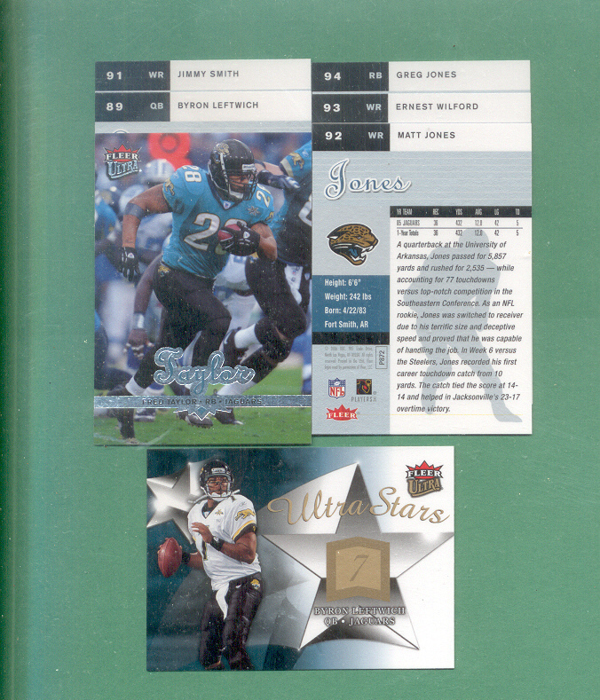 2006 Fleer Ultra Jacksonville Jaguars Football Team Set
