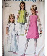 Simplicity 7568 Vintage 60s Pattern Girls 6 Flower Girl Dres - $9.95