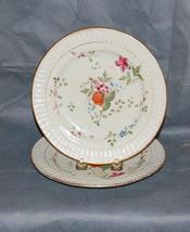 Set of 2 Antique English Porcelain Flower Plates - $250.00