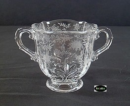 Fostoria Chintz Crystal Sugar Bowl - $10.95