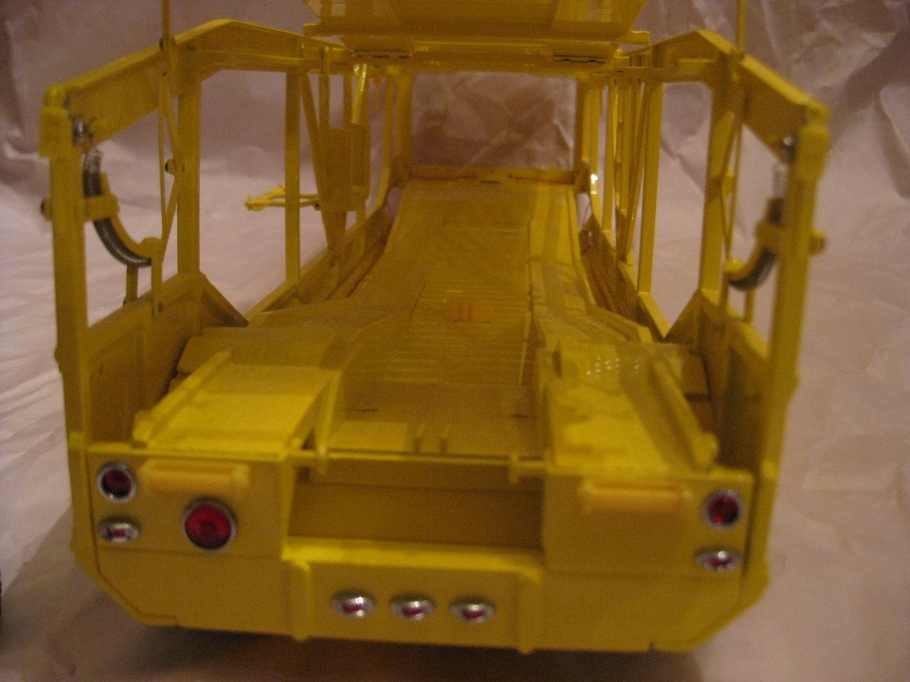 Primary image for YELLOW SHOW CAR CARRIER HAULER DANBURY MINT DIECAST