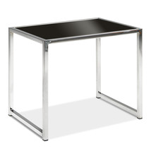 Avenue Six Yield Chrome Frame & Tempered Black Glass Top Modern Accent E... - $105.24 CAD