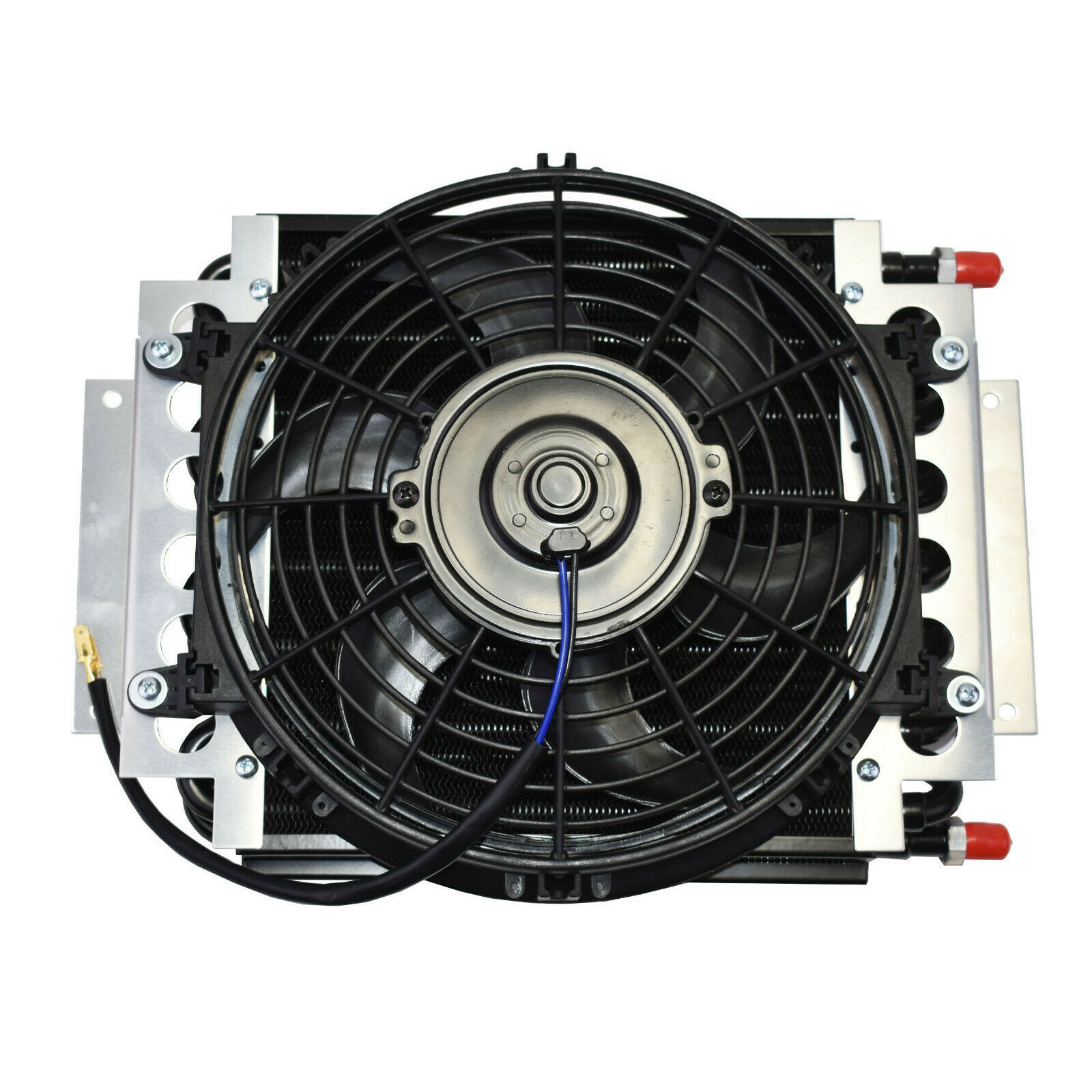 "5"" Oil Cooler with 10"" Electric Fan and 3/8"" Fitting 48"" L Hose Kit"