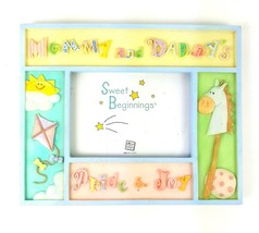 """Mommy and Daddy's Pride & Joy Unisex Russ Baby Picture 5""""x3.5"""" Photo Fra... - $13.99"""