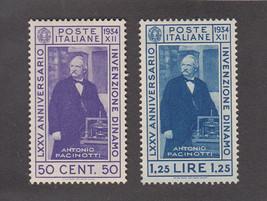 1934 Antonio Pacinotti Set of 2 Italy Postage Stamps Catalog Number 322-23 MNH
