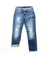 Rock & Republic Womens Sz 6 Indee Stud Embellished Ripped Distressed Denim Jeans - $34.00