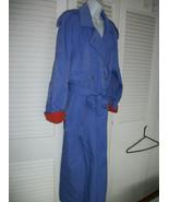 vintage 90s  long Trench Rain coat  GALLERY   sz 10 purple/lilac - $47.52