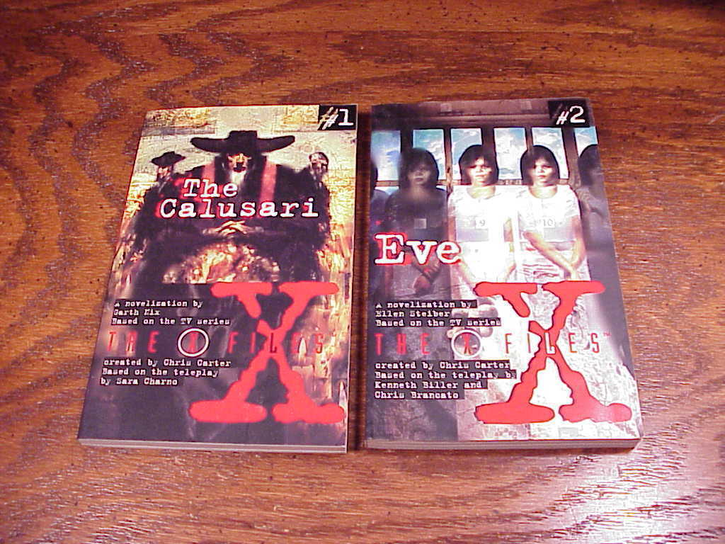 Lot of 7 Young Adult X-Files Series Books, no. 1 2 3 4 5 6 7