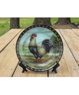 Decorative Rooster Plate and Display Stand - $10.20