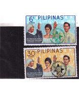 2 PILIPINAS Stamps - Ang Pangulong MARCOS Disyembre 30, 1965 - €2,39 EUR