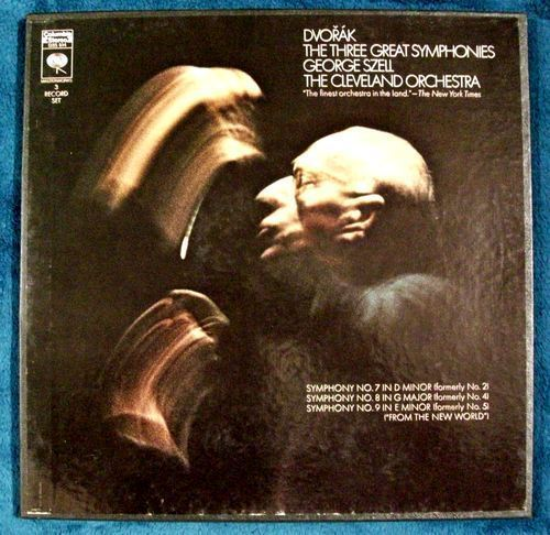 DVORAK ~ THE THREE GREAT SYMPHONIES     3-Record Boxed Set