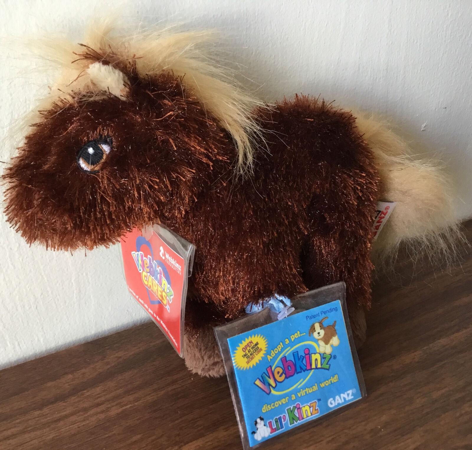 Webkinz Lil Kinz Horse Plush HS103 SEALED CODE L03 - $17.81