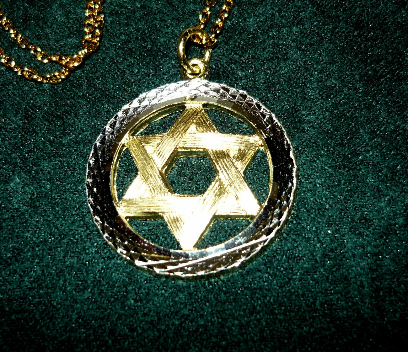 Primary image for Star of David Silver and Goldtone Necklace