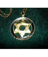 Star of David Silver and Goldtone Necklace - $5.00