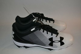 NEW    Under Armour Men's Leadoff Low RM Baseball Cleats Black/white  size 15 - $47.49