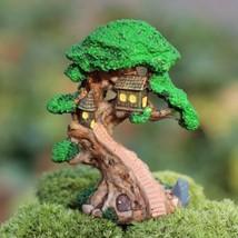 Spirit tree house high9cm miniatures plants fairy garden gnome moss - $11.29