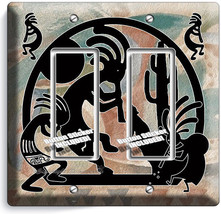 Kokopelli Southwest Hopi Fertility Sperit 2 Gang Gfci Light Switch Plates Decor - $11.69