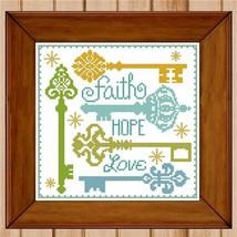 Keys To Happiness cross stitch chart Pinoy Stitch - $6.30