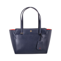 New Tory Burch Parker Tote Women's Handbag Blue #87 - $209.99