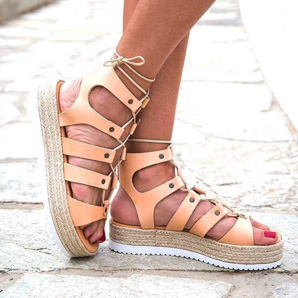 "Gladiator Sandals "" Arizona "", lace sandals, gladiator sandals, genuine leather"