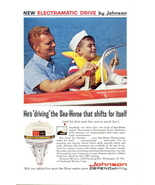 1962 Johnson Sea-Horse Electramatic boat motor print ad - $10.00