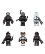 6pcs Clone Force 99/The Bad Batch Hunter Echo Crosshair Star Wars Minifi... - $15.99