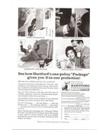 1957 Hartford Fire Insurance Co Safety Policy print ad - $10.00
