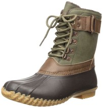 JBU by Jambu Quebec Water Resistant Boots Army Green/Brown, Size 7.5 M - $49.49