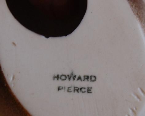 Howard Pierce Pigeons Doves Porcelain 1950s Brown over White