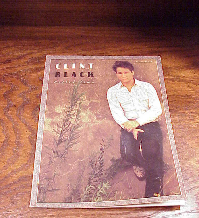 Clint Black, Killin' Time Song Book, 10 songs, songbook