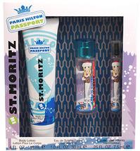 St Moritz Paris Hilton Passport 3 Piece Set Body Lotion Eau de Toilette Spray - $14.29