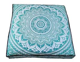 Traditional Jaipur Square Mandala Floor Cushion Decorative Throw Pillowcase 35 x - $19.79