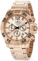 Invicta Men's 1504 Chronograph 18k Rose Gold Ion-Plated Stainless-Steel ... - $128.28