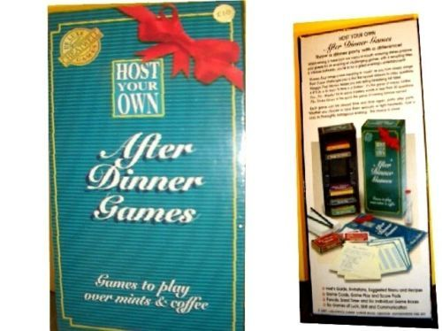 HOST YOUR OWN AFTER DINNER GAMES--SEALED