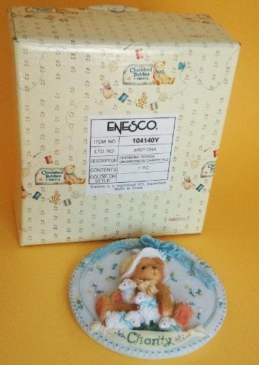 Enesco Cherished Teddies Charity Wall Plaque