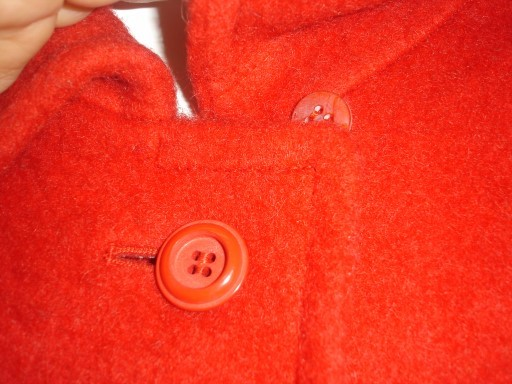 90's Ruby Red VALMELINE SPORTIVE Wool Blend Cape