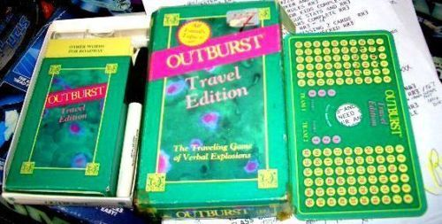 OUTBURST TRAVEL GAME 1986--COMPLETE