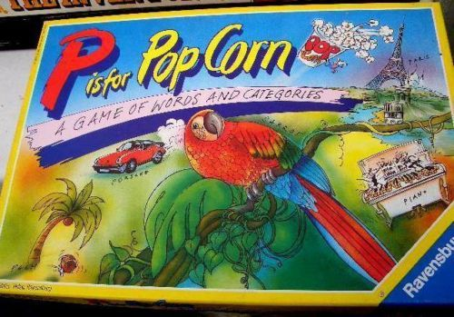 P IS FOR POPCORN RAVENSBURGER COMPLETE 1991  GAME