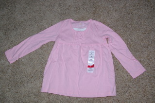 Girls Toddler Jumping beans Long Sleve Top Size 4 NWT