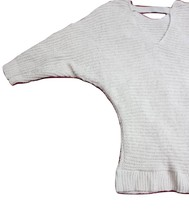 Women Sweater Cold Weather, Soft V-Neck W/Strap Style Nude/Tan Color Size Medium - $39.99